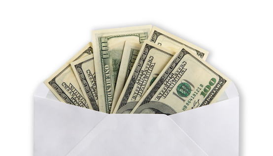 Image result for envelope stuffed with cash