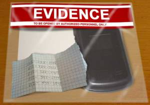evidence burner phone