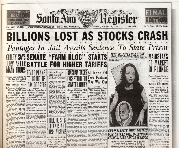 stock crash 1929