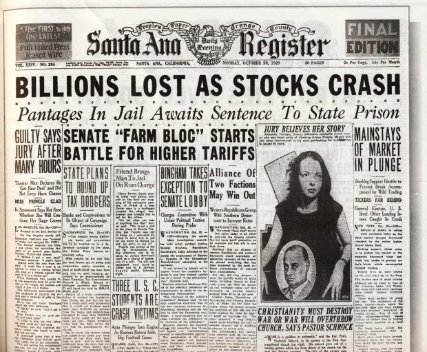 stock crash 1929