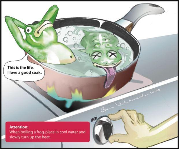 frog boil pot