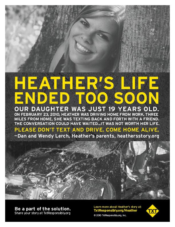 heather texting death