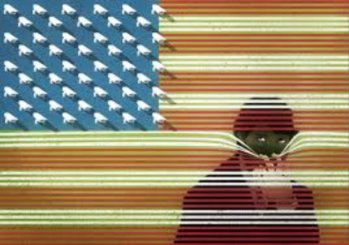 american flag camera spying