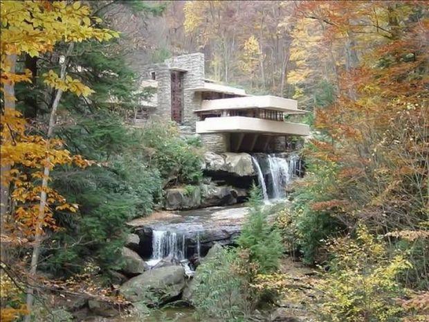 hidden forest home waterfall