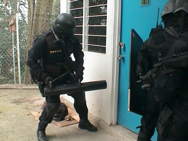 police swat team at your door