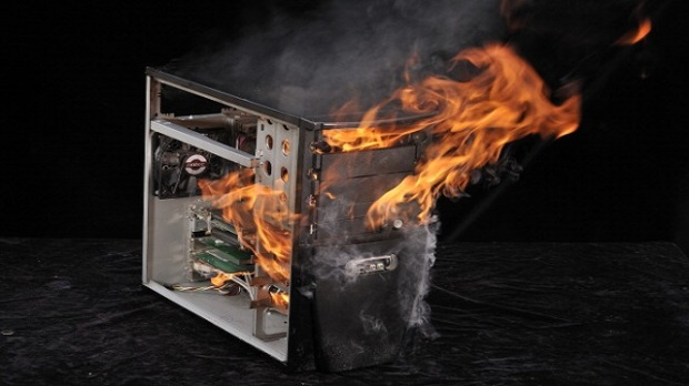 PC On Fire Shoot